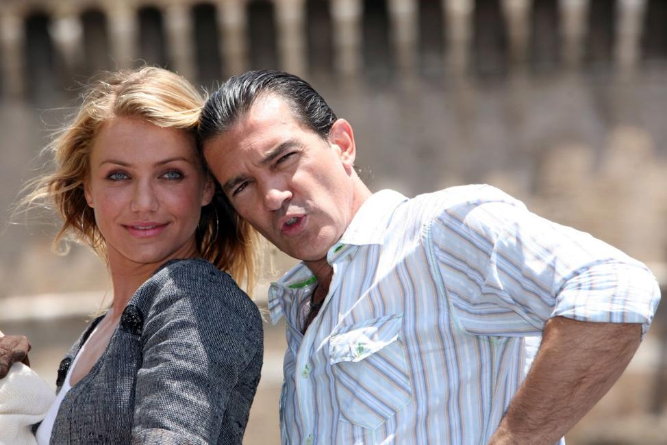 Antonio Banderas and Cameron Diaz at the