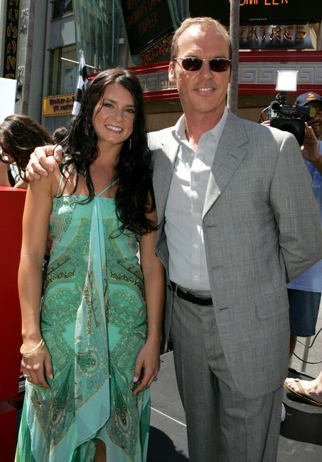 Michael Keaton and Danica Patrick at the Hollywood premiere of