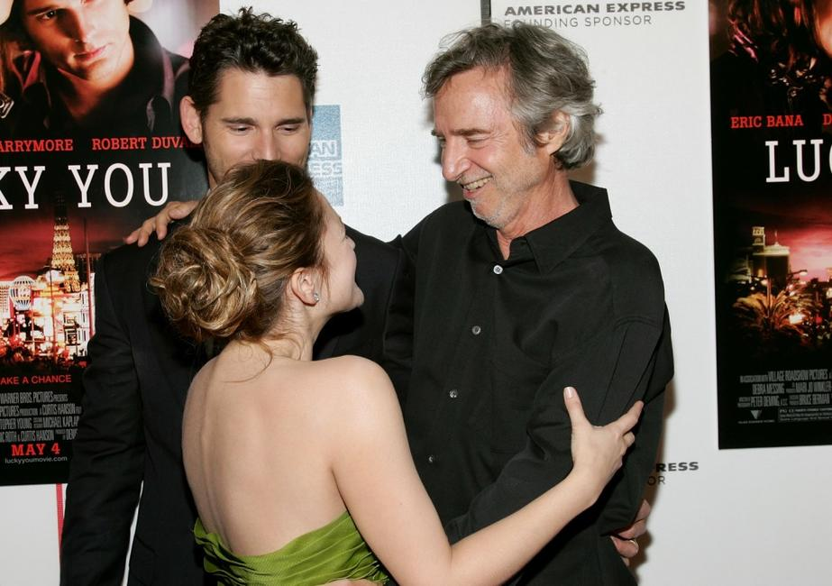 Drew Barrymore, Eric Bana and Curtis Hanson at the premier of