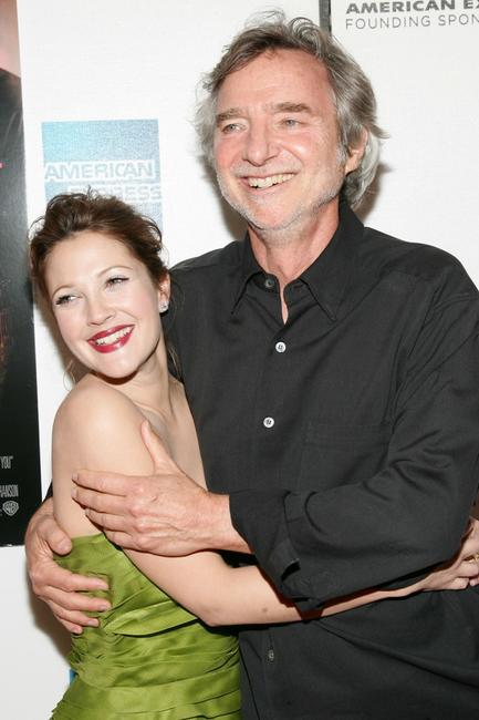 Drew Barrymore and Curtis Hanson at the premier of