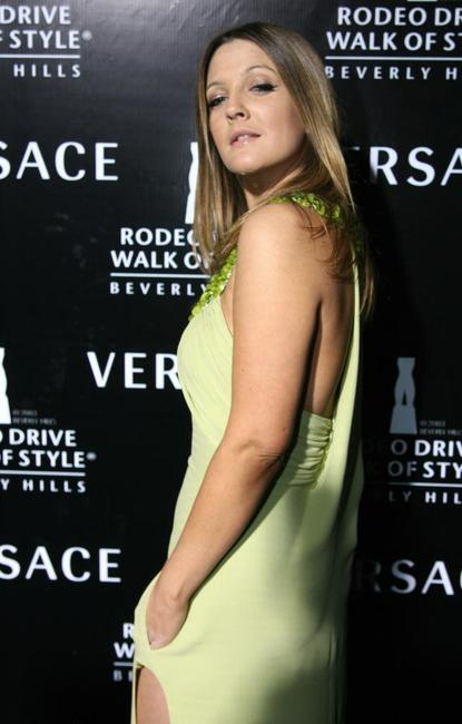 Drew Barrymore at the Rodeo Drive Walk of Style Awards.