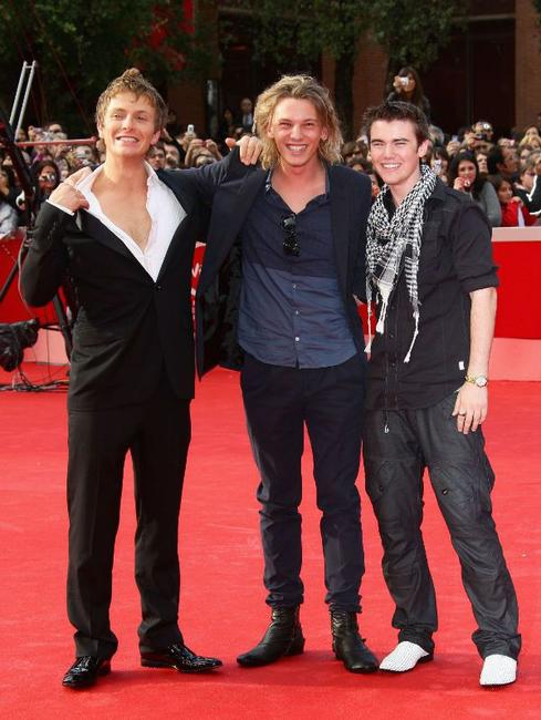 Charlie Bewley, Jamie Campbell Bower and Cameron Bright at the premiere of