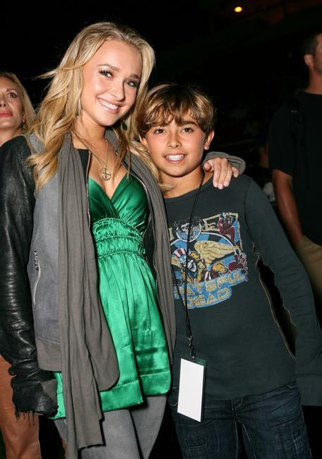 Hayden Panettiere and Jansen Panettiere at the Orange County Fylers game.