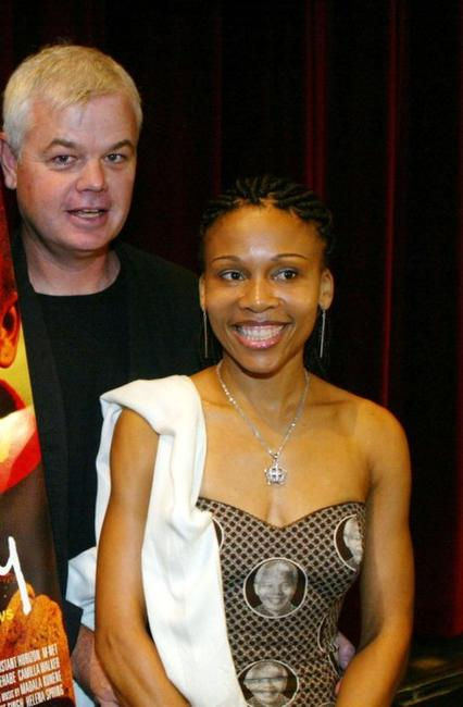 Director Darrell Roodt and Leleti Khumalo at the reception for the Foreign Language Film Nominees.