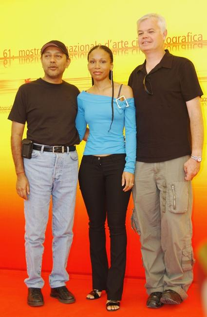 Producer Anant Singh, Leleti Khumalo and Director Darell James Roodt at the photocall of