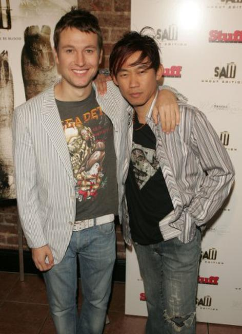 Leigh Whannell and James Wan at the DVD release party of