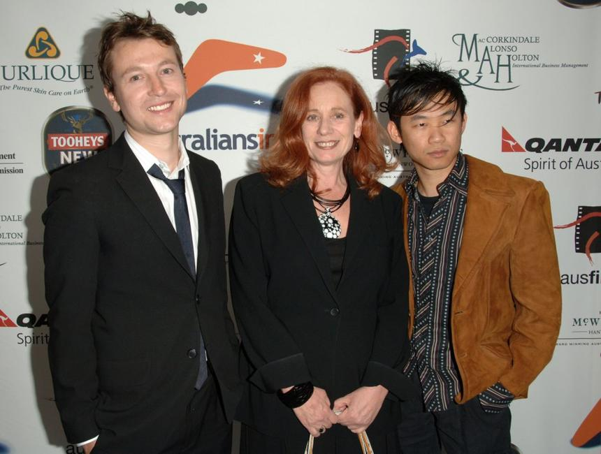 Leigh Whannell, Stacey Testro and James Wan at the Australians In Film 2006 Breakthrough Awards.