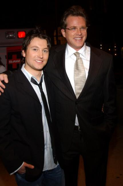 Leigh Whannell and Cary Elwes at the New York screening of