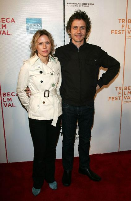 Britta Philips and Dean Wareham at the premiere of