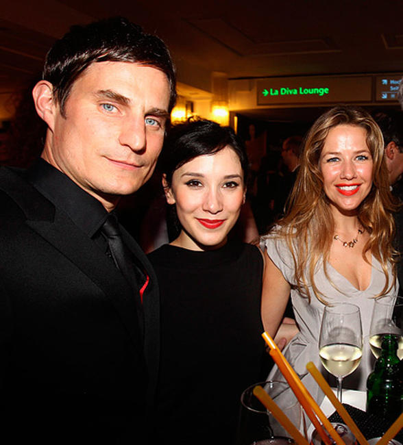 Clemens Schick, Sibel Kekilli and Alexandra Neldel at the German Film Awards party in Germany.