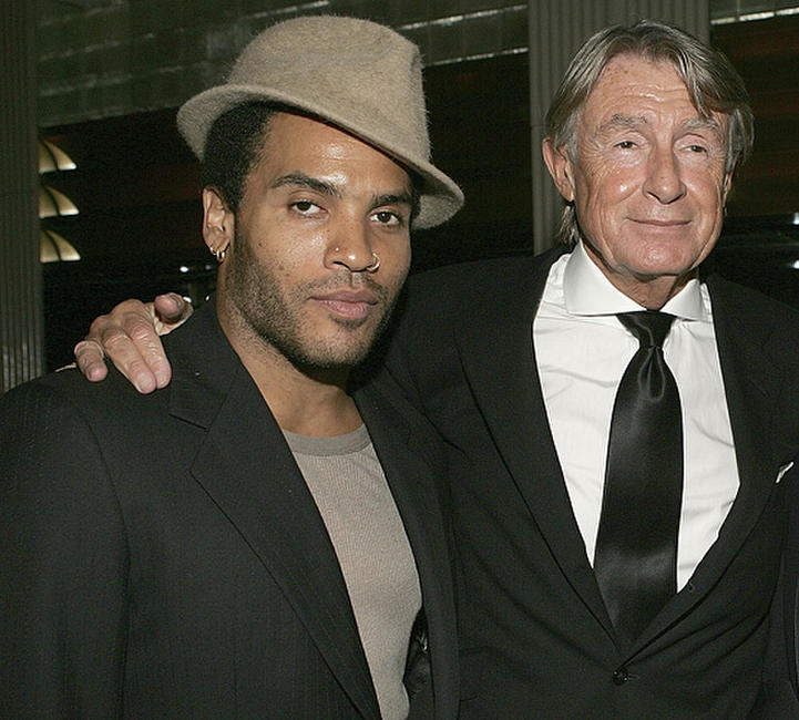 Lenny Kravitz and director Joel Schumacher at the 80th birthday party for legendary musician Bobby Shortin New York.