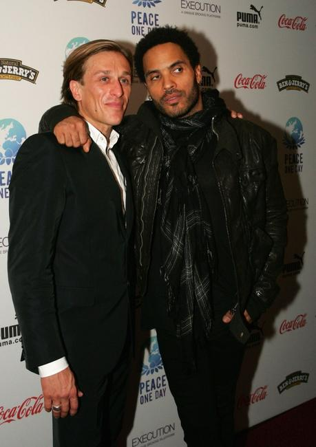 Jeremy Gilley and Lenny Kravitz at the