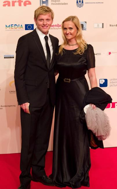 Thure Lindhardt and Guest at the European Film Awards.