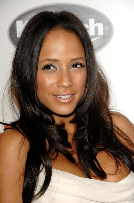 Dania Ramirez at the Entertainment Weekly Grammy After Party Toasting LA Reid.