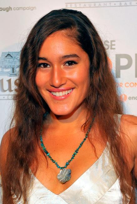 Q'orianka Kilcher at the Raise Hope for the Congo event.