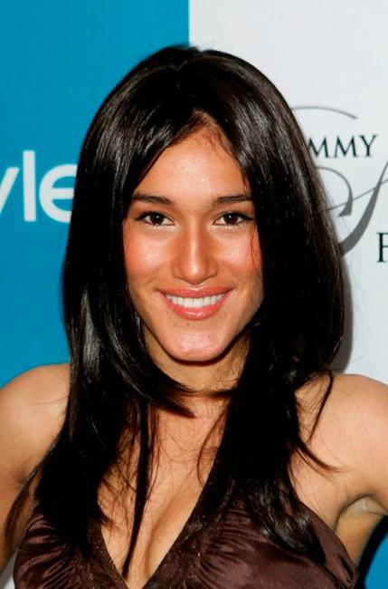 Q'orianka Kilcher at the In Style and Grammy Salute to Fashion.