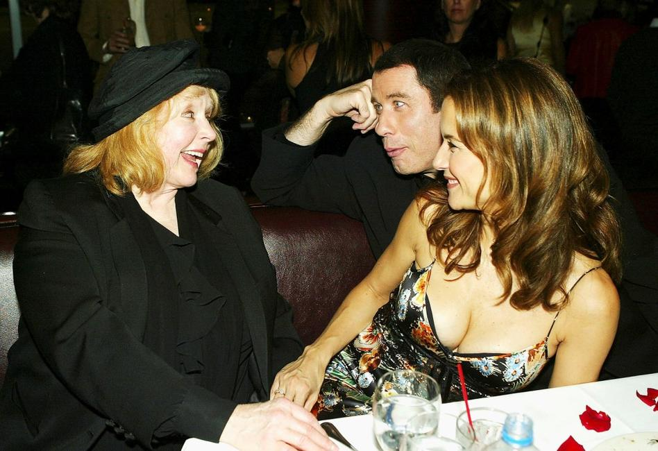 Piper Laurie, John Travolta and Kelly Preston at the Los Angeles Premiere of '