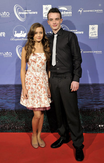 Ella Purnel and Alex Etel at the premiere of