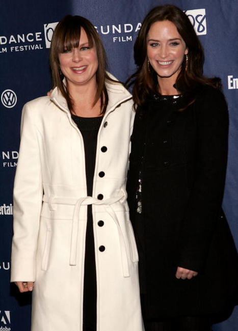 Mary Lynn Rajskub and Emily Blunt at the premiere of