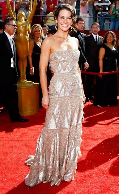 Evangeline Lilly at the 60th Primetime Emmy Awards.
