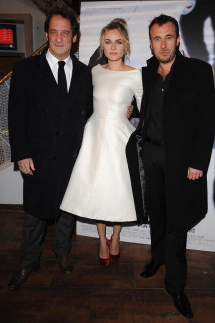 Vincent Lindon, Diane Krugger and Director Fred Cavay at the Paris premiere of