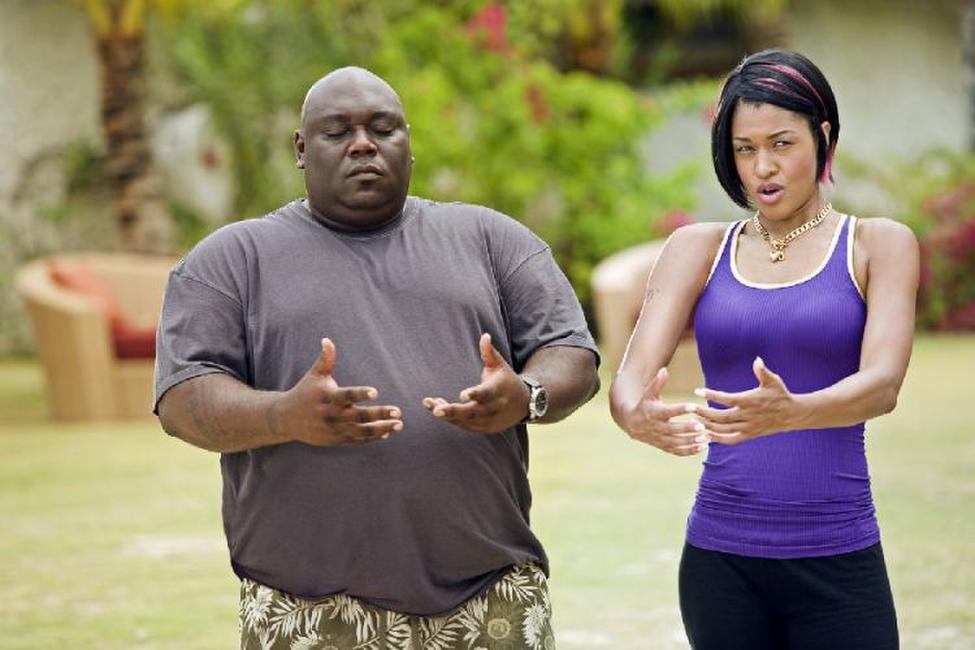 Faizon Love as Shane and Kali Hawk as Trudy in