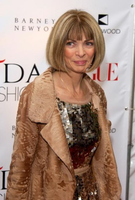 Anna Wintour at the CFDA and Vogue Fashion Fund Dinner.