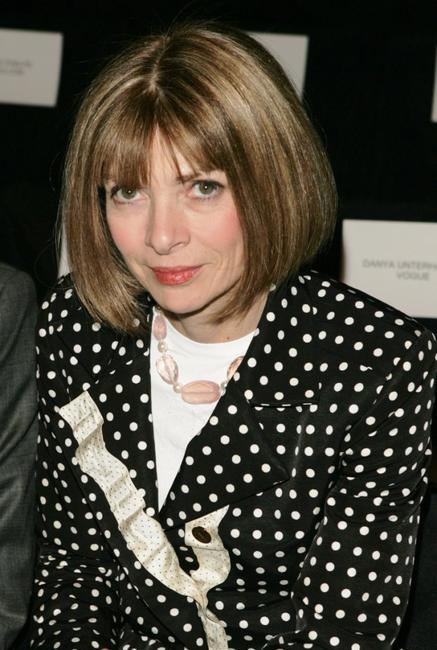 Anna Wintour at the Michael Kors Fall 2005 fashion show during the Olympus Fashion week.
