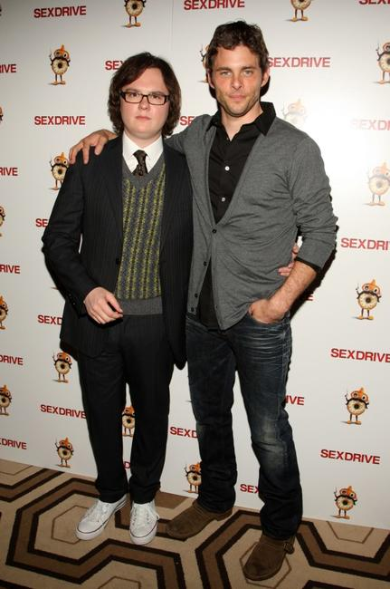 Clark Duke and James Marsden at the special screening of