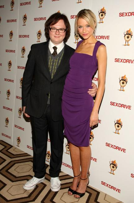 Clark Duke and Katrina Bowden at the special screening of