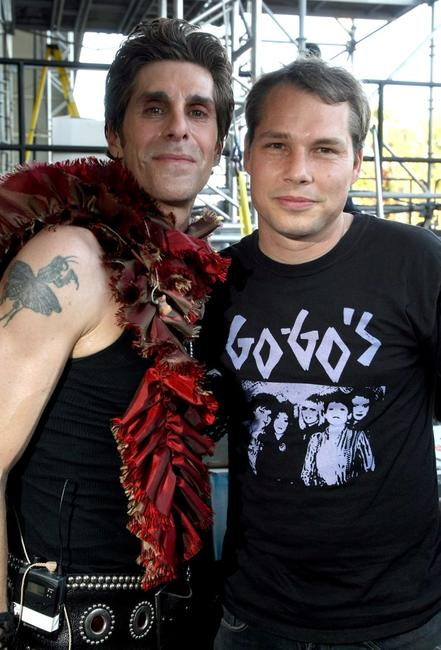 Perry Farrell and Shepard Fairey at the Coachella Valley Music & Arts Festival 2009.