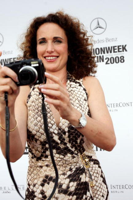 Andie MacDowell at the Michalsky fashion show during the Mercedes-Benz Fashion Week Berlin Spring/Summer 2008.