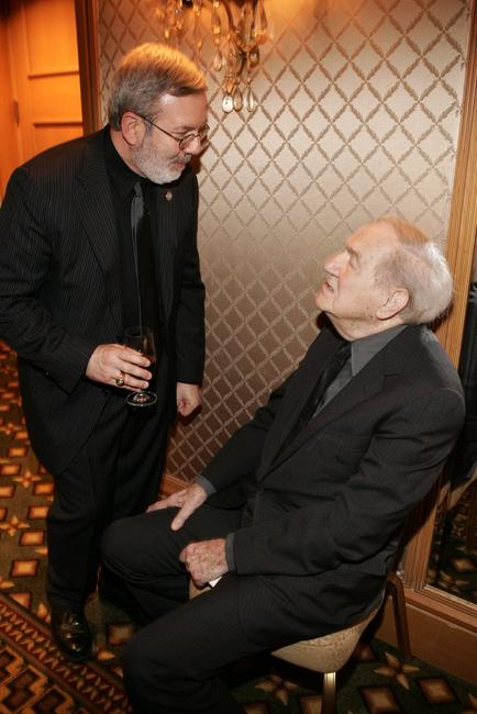 Karl Malden and Film critics Leonard Maltin at the 31st Annual Los Angeles Film Critics Association Awards.