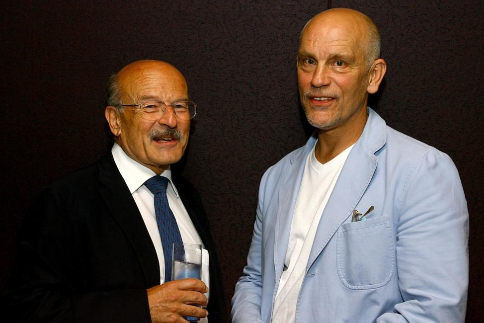 John Malkovich and Volker Schlondorff at the premiere of