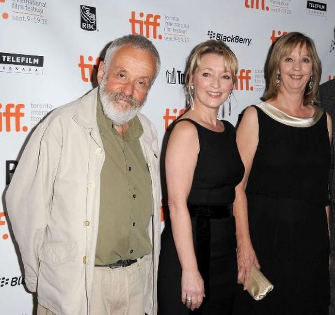 Director Mike Leigh, Lesley Manville and Ruth Sheen at the premiere of