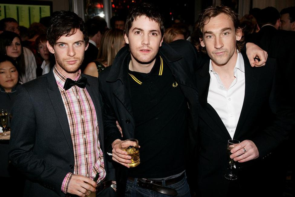 Luke Treadaway, Jim Sturgess and Jo Mawle at the Jameson Empire Magazine Awards.