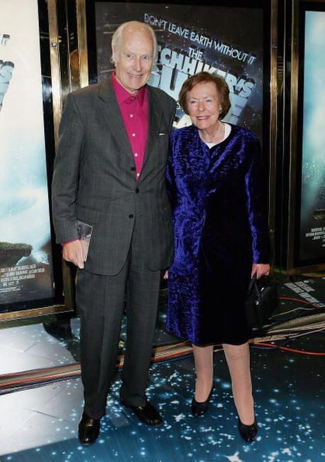 George Martin and wife Judy Lockhart Smith at the world premiere of