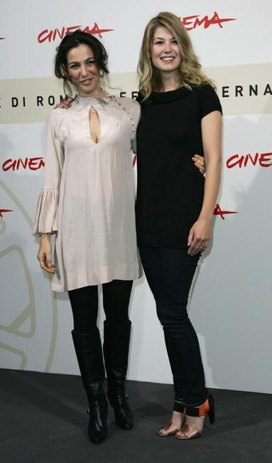 Ayelet Zurer and Rosamund Pike at the photocall of