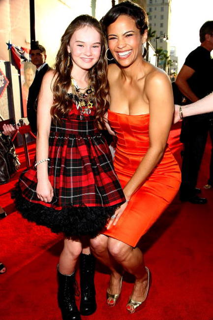 Madeline Carroll and Paula Patton at the world premiere of