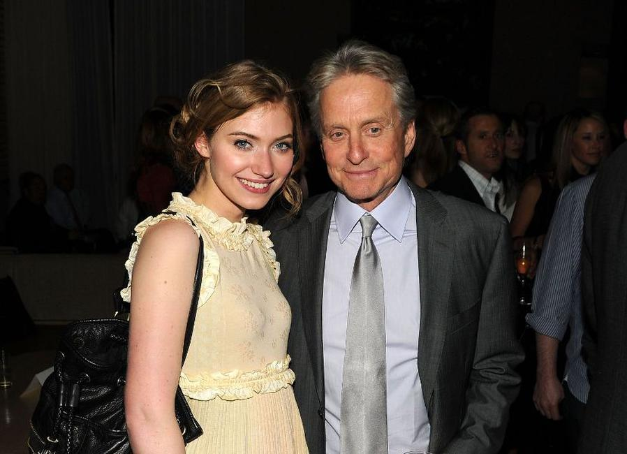 Imogen Poots and Michael Douglas at the after party of the New York premiere of