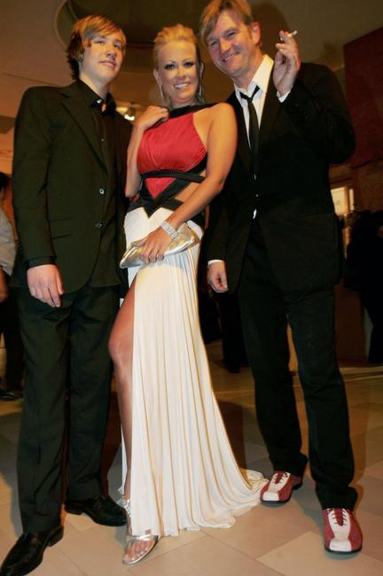 David Kross, Jenny Elvers-Elbertzhagen and Director Detlev Buck at the German Film Awards.