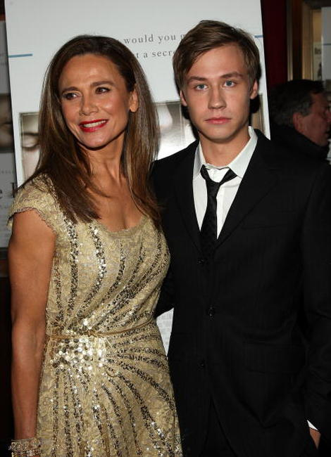Lena Olin and David Kross at the premiere of