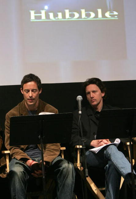 Andrew McCarthy and Ben Shenkman at the Sloan Reading Panel at the Tribeca Film Festival.