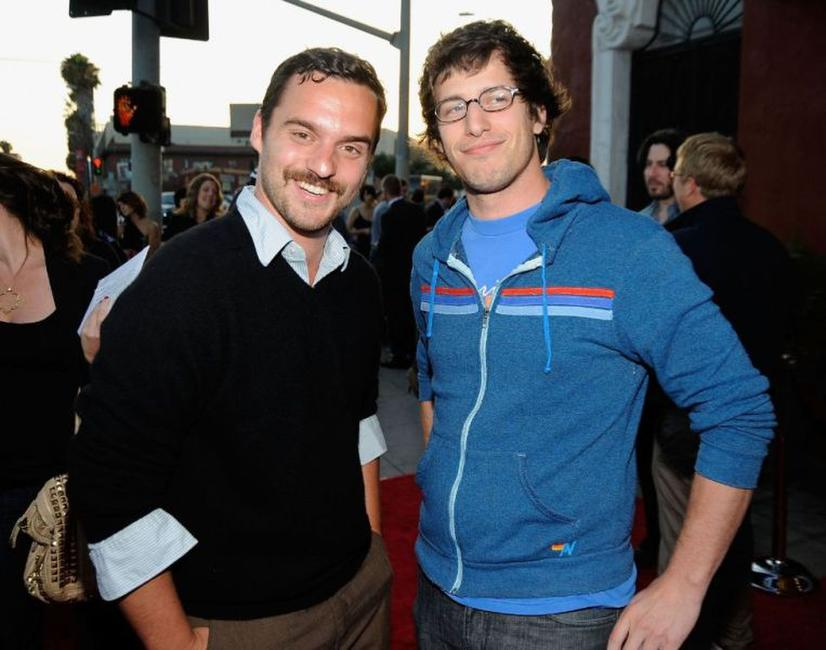 Jake Johnson and Andy Samberg at the Los Angeles screening of