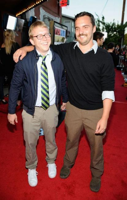 Nick Jasenovec and Jake Johnson at the Los Angeles screening of