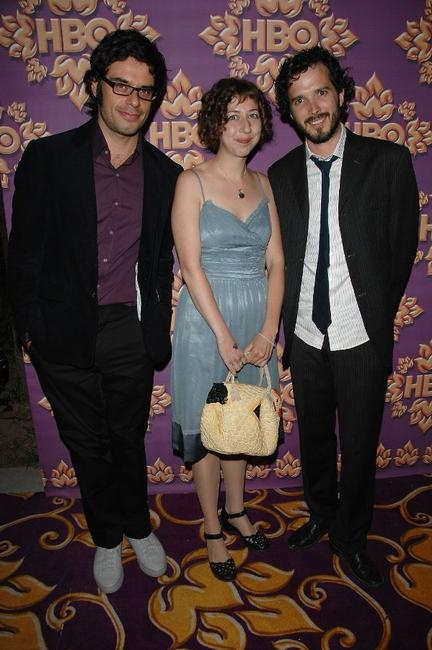 Jemaine Clement, Kristen Schaal and Bret McKenzie at the HBO Emmy after party.