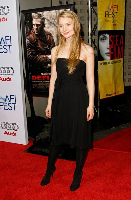 Mia Wasikowska at the 2008 AFI FEST Closing Night Gala screening of