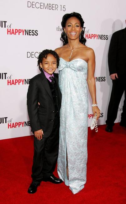 Jaden Smith and Jada Pinkett Smith at the World premiere of