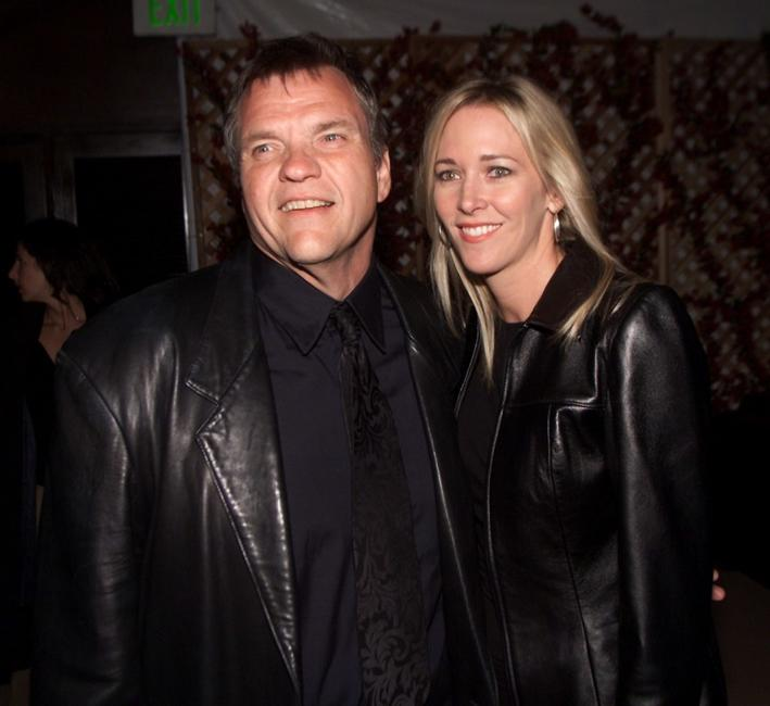 Meatloaf and his wife Tracy at the premiere of