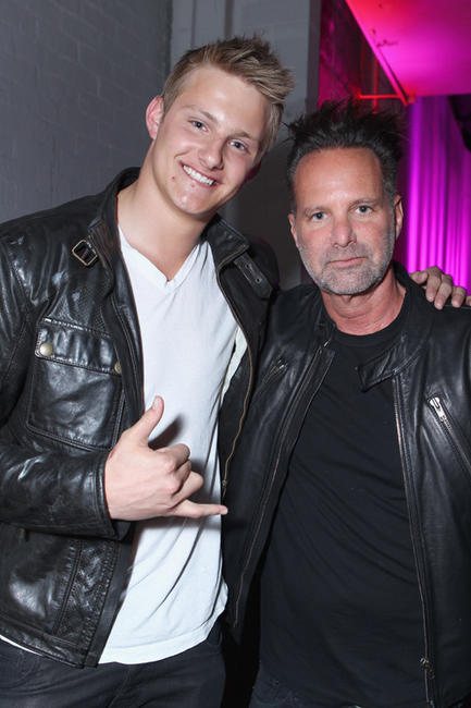 Alexander Ludwig and NYLON editor-in-chief Marvin Scott Jarrett at the NYLON Magazine 13th Anniversary Celebration in California.